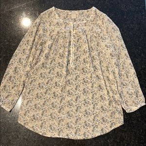 Lucky Brand Floral She Top Blouse Shirt S